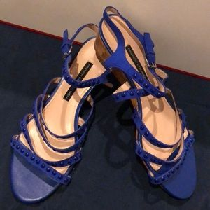 Blue French Connection Wedge Dress Sandal
